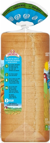 Oroweat Organic White Made with Whole Wheat Bread Perspective: left
