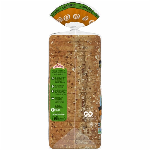 Oroweat Organic Thin-sliced Sprouted Wheat Bread Perspective: left