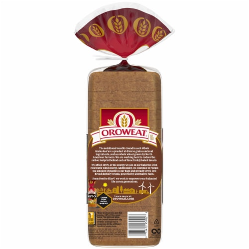 Oroweat Small Slice 100% Whole Wheat Bread Perspective: left
