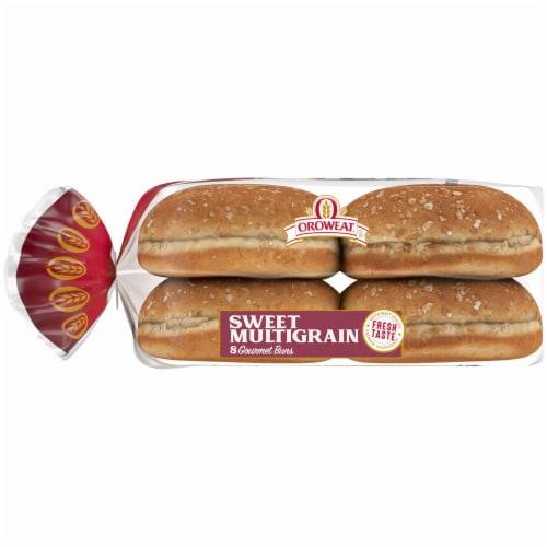 Oroweat Sweet Multrigrain Gourmet Hamburger Buns Perspective: left
