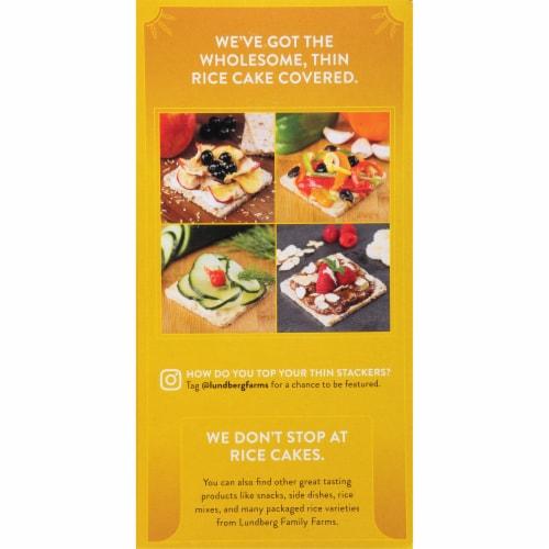 Lundberg Organic Brown Rice Puffed Grain Cakes Perspective: left