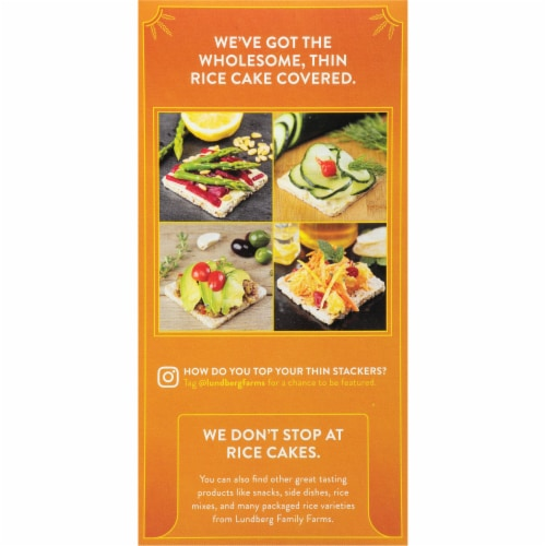 Lundberg Thin Stackers Organic Red Rice & Quinoa Puffed Grain Cakes Perspective: left