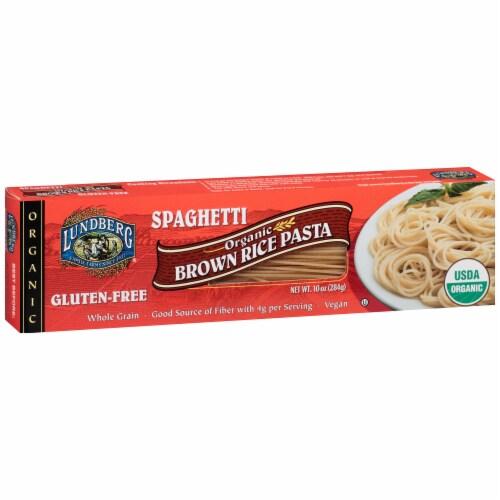 Lundberg Organic Brown Rice Spaghetti Pasta Perspective: left