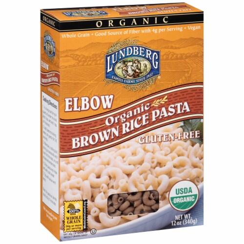 Lundberg Organic Brown Rice Elbow Pasta Perspective: left