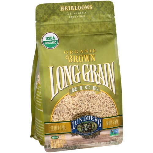 Lundberg Organic Brown Long Grain Rice Perspective: left