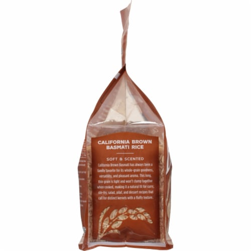Lundberg California Brown Basmati Whole Grain Rice Perspective: left