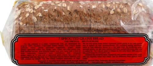 Food for Life 7 Sprouted Grains Bread Perspective: left