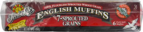 Food for Life 7-Sprouted Grains English Muffins Perspective: left