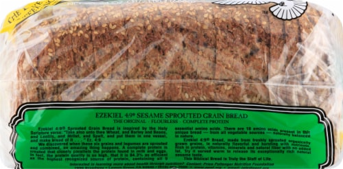 Food for Life Ezekiel 4:9 Sesame Sprouted Grain Bread Perspective: left