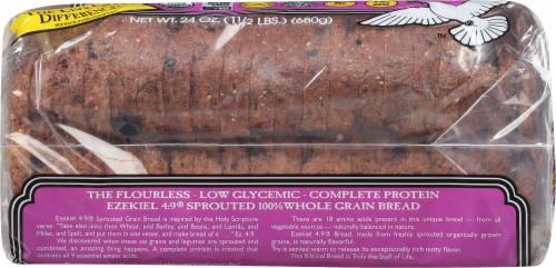Food for Life Ezekiel 4:9 Cinnamon Raisin Bread Perspective: left