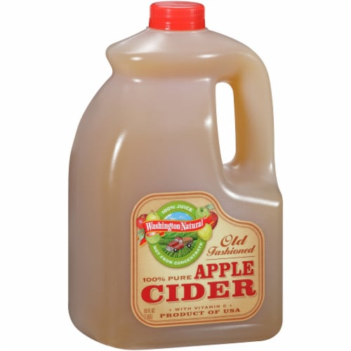 Washington Natural Old Fashioned Apple Cider Perspective: left