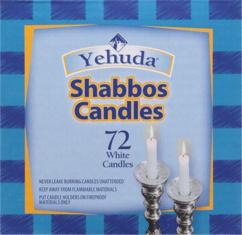 Yehuda Sabbath Candles - White Perspective: left