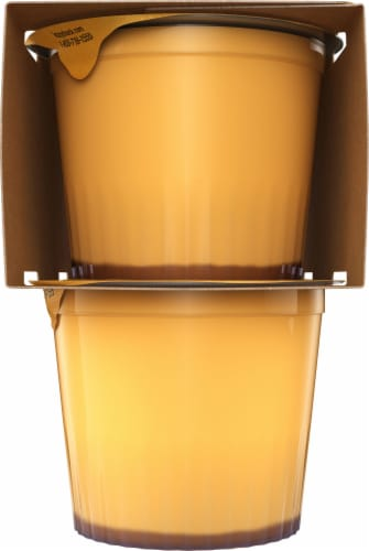 Kozy Shack Gluten Free Creme Caramel Flan Snack Cups Perspective: left