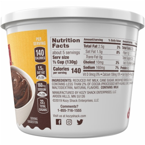 Kozy Shack Original Recipe Chocolate Pudding Perspective: left