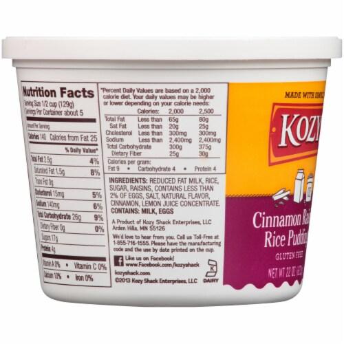 Kozy Shack Gluten Free Cinnamon Raisin Rice Pudding Perspective: left