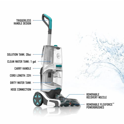 Hoover SmartWash + Automatic Carpet Cleaner - Gray/Green Perspective: left