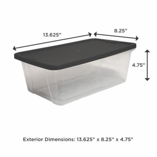 Homz Snaplock 6 Quart Clear Organizer Storage Container Bin with Lid (10 Pack) Perspective: left