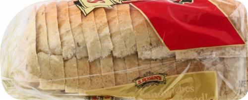 S. Rosen's Rye Bread with Caraway Seeds Perspective: left
