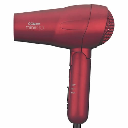 Conair MiniPro Red Tourmaline Ceramic Hair Dryer Perspective: left
