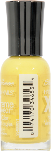 Sally Hansen Hard as Nails Xtreme Wear 360 Mellow Yellow Nail Color Perspective: left