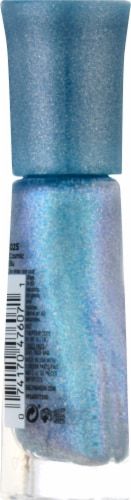 Sally Hansen Insta-Dri Prismatic Shine 222 Cosmic Blu Nail Color Perspective: left