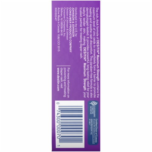 Desitin Maximum Strength Diaper Rash Ointment with Zinc Oxide Perspective: left