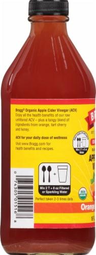 Bragg Organic Orange Tart Cherry Enhanced Apple Cider Vinegar Perspective: left