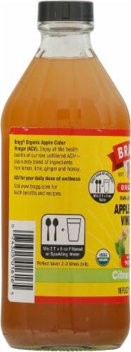 Bragg Organic Citrus Ginger Enhanced Apple Cider Vinegar Perspective: left