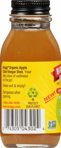 Bragg Organic Apple Cider Vinegar Ginger Turmeric Prebiotic Shot Perspective: left