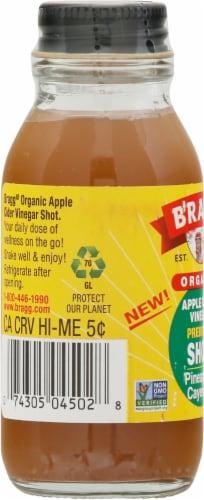 Bragg Organic ACV Pineapple Cayenne Shot Perspective: left