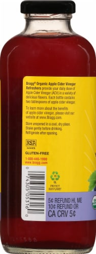 Bragg Refreshers ACV Concord Grape & Hibiscus Drink Perspective: left