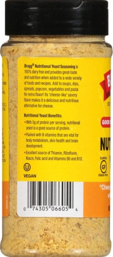 Bragg Nutritional Yeast Seasoning Perspective: left