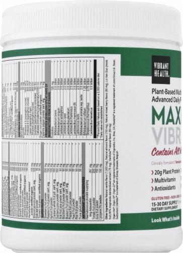 Vibrant Health Maximum Vibrance Vanilla Bean Multi Supplement Powder Perspective: left