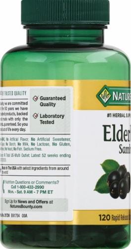 Nature's Bounty® Elderberry Softgels Perspective: left