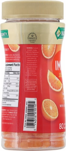 Nature's Bounty® Immune Orange Flavored Jelly Beans Perspective: left