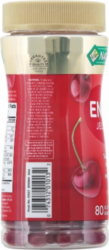 Nature's Bounty® Energy Cherry Flavored Jelly Beans Perspective: left