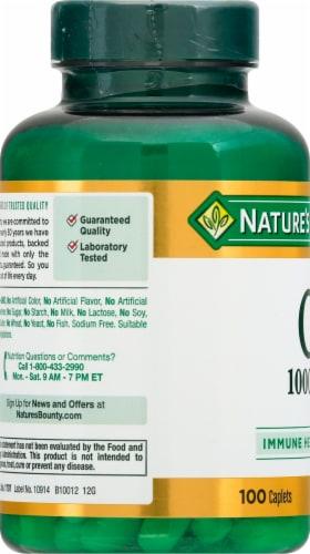 Nature's Bounty Vitamin C Caplets 1000mg Perspective: left