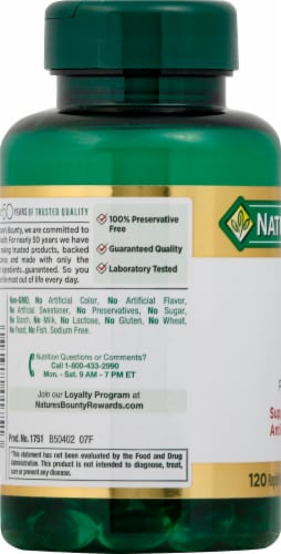 Nature's Bounty Vitamin E Pure dl-Alpha Rapid Release Softgels 180mg Perspective: left
