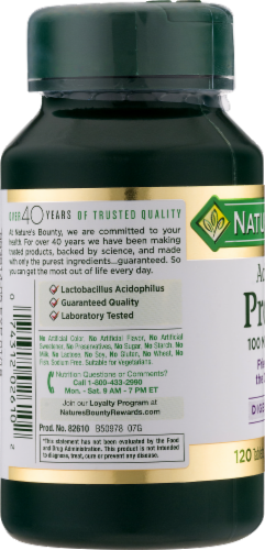 Nature's Bounty Acidophilus Probiotic Tablets Perspective: left