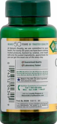 Nature's Bounty Cranberry with Vitamin C Rapid Release Softgels 4200mg Perspective: left