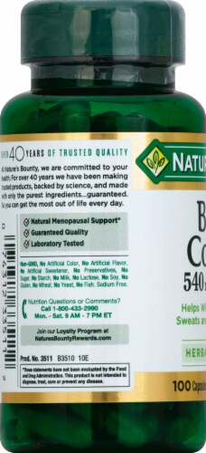 Nature's Bounty Black Cohosh Capsules 540mg Perspective: left