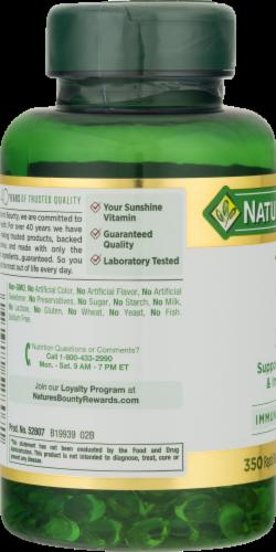 Nature's Bounty Vitamin D3 Softgels 2000 IU Perspective: left