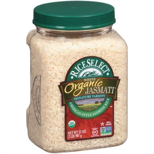RiceSelect Organic Jasmati Long Grain Rice Perspective: left