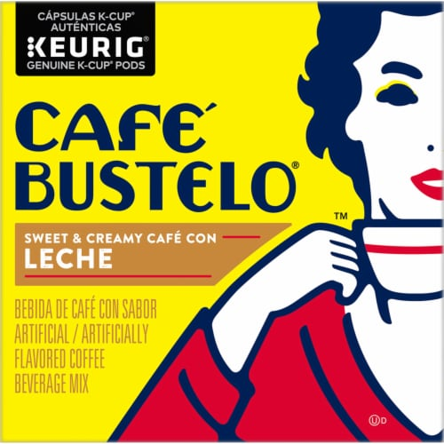 Cafe Bustelo Cafe con Leche Coffee K-Cup Pods Perspective: left