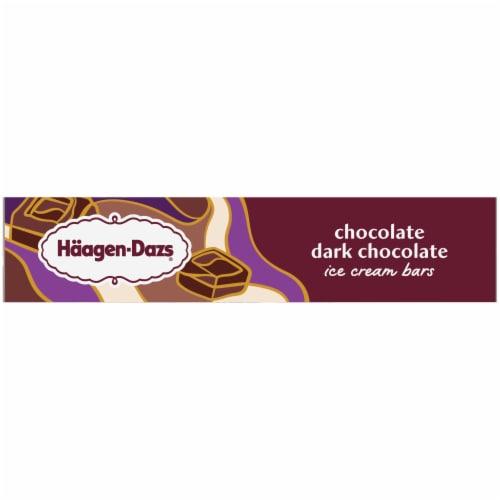 Haagen-Dazs Chocolate Dark Chocolate Ice Cream Bars Perspective: left