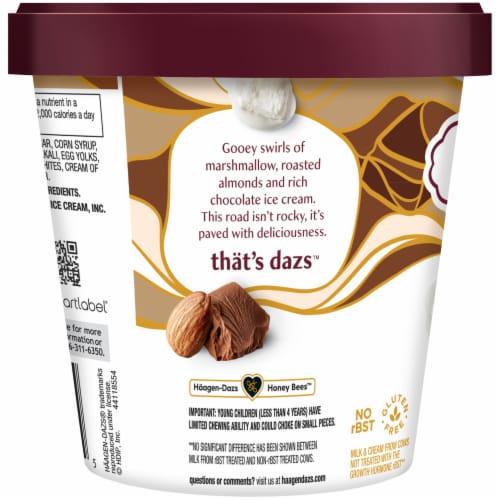 Haagen-Dazs Gluten Free Rocky Road Ice Cream Perspective: left