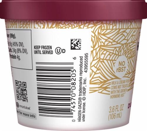 Haagen-Dazs Gluten Free Dulce De Leche Ice Cream Cup Perspective: left