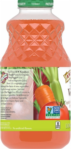 R.W. Knudsen Organic Very Veggie Low Sodium Juice Perspective: left