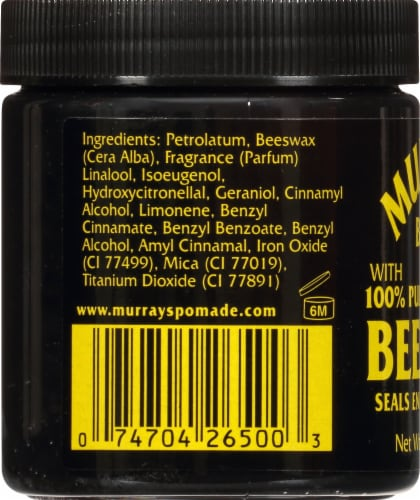 Murray's Black Beeswax Perspective: left