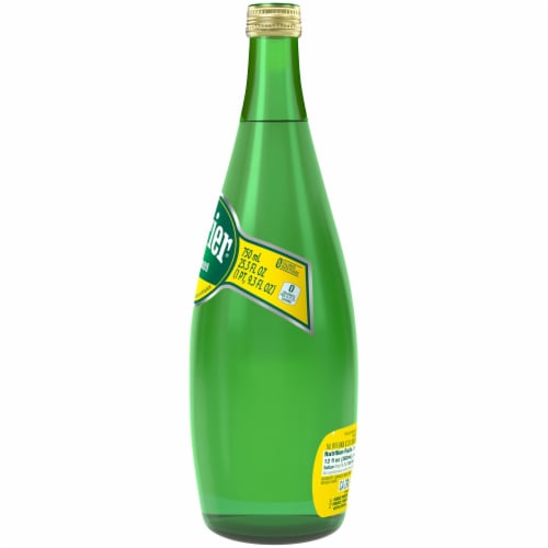 Perrier Lemon Carbonated Mineral Water Perspective: left